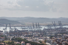 Balboa port container terminal. Panama, Central America stock images