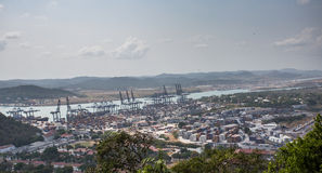 Balboa port container terminal. Panama, Central America royalty free stock photography