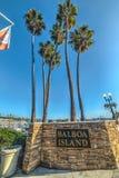 Balboa wyspy powitalny znak Fotografia Stock