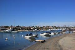 Balboaeiland, New Port Beach, Californië Stock Afbeeldingen
