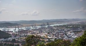 Balboahafencontainerbahnhof Lizenzfreie Stockfotografie