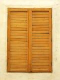 Balbuzie antica della finestra fotografia stock