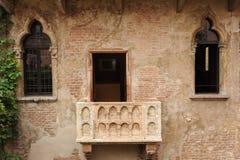 Balcão de Juliet em Verona imagem de stock royalty free