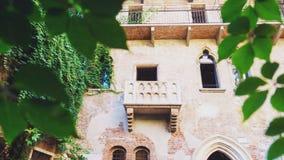 Balcão de Juliet, marco famoso da cidade de Verona Fotos de Stock