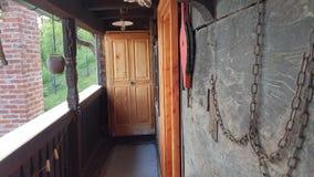 Balcão de madeira velho da casa Imagens de Stock Royalty Free
