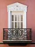 Balcão de uma casa em Sevilha Fotos de Stock Royalty Free
