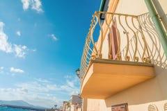 Balcão em Alghero imagem de stock royalty free