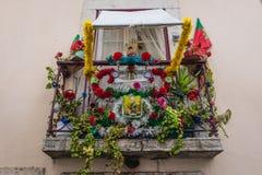 Balcão em Lisboa imagem de stock
