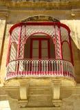 Balcão em Mdina imagens de stock royalty free