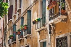 Balcão em Veneza fotografia de stock