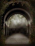 Balcão escuro com velas Fotos de Stock Royalty Free