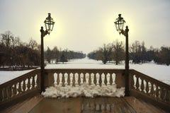 Balcão nevado Foto de Stock Royalty Free