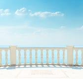 Balcão perto do mar foto de stock royalty free