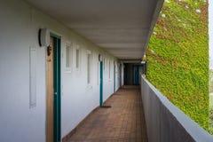 Balcão residencial da arquitetura alemão de Corrider da passagem do apartamento Imagem de Stock