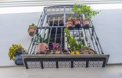Balcão velho da cidade em Badajoz imagens de stock royalty free