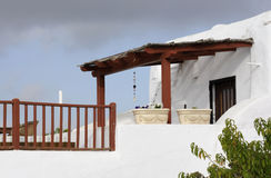 Balcón árabe del estilo Imagen de archivo libre de regalías