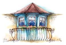 Balcón stock de ilustración
