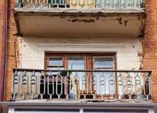 Balcón abandonado Imagen de archivo libre de regalías