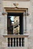 Balcón - Barcelona Imagenes de archivo