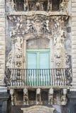 Balcón barroco en Catania Sicilia Foto de archivo libre de regalías