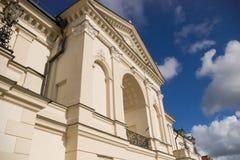Balcón clásico del estilo fotos de archivo