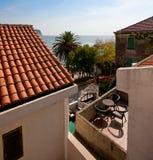 Balcón con la opinión del mar Imágenes de archivo libres de regalías