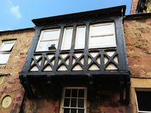 Balcón con la ventana cerrada Fotografía de archivo