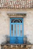 Balcón cubano Fotografía de archivo