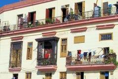 Balcón cubano foto de archivo libre de regalías