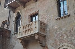Balcón de Juliet House In Verona imágenes de archivo libres de regalías