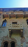 Balcón de Juliets, Verona, Italia Fotografía de archivo libre de regalías