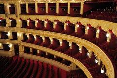 Balcón de la ópera fotos de archivo libres de regalías
