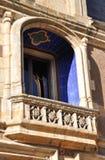 Balcón de la piedra decorativa Imagen de archivo libre de regalías