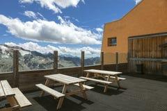 Balcón de las montañas Imagen del color Fotografía de archivo