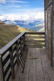 Balcón de las montañas Imagen del color Imágenes de archivo libres de regalías