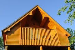 Balcón de madera Fotografía de archivo