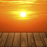 Balcón de madera hermoso Imagenes de archivo