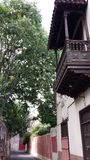 Balcón de madera viejo imágenes de archivo libres de regalías
