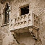 Balcón de Romeo y de Juliet Imagen de archivo