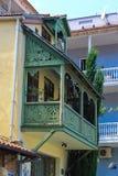 balcón de talla verde claro Fotografía de archivo