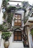 Balcón de Taormina Imagen de archivo libre de regalías