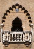 Balcón de una torre medieval en Sevilla Fotos de archivo