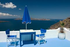 Balcón del azul del verano Fotografía de archivo