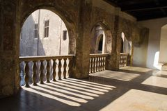 Balcón del castillo Fotos de archivo libres de regalías