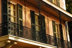 Balcón del hierro labrado Imagen de archivo