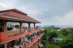 Balcón del hotel de la playa Imagen de archivo libre de regalías