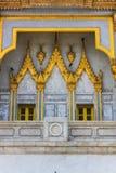 Balcón del templo del sothorn en el chachoengsao Tailandia Imagenes de archivo