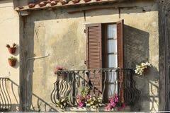 Balcón en Capoliveri, Elba Fotografía de archivo libre de regalías
