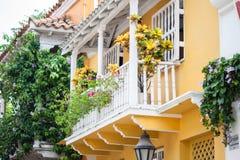 Balcón en Cartagena de Indias Imagen de archivo libre de regalías