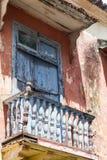 Balcón en Cartagena de Indias Fotos de archivo libres de regalías